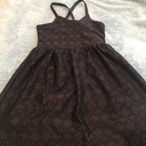 Abercrombie girls black dress